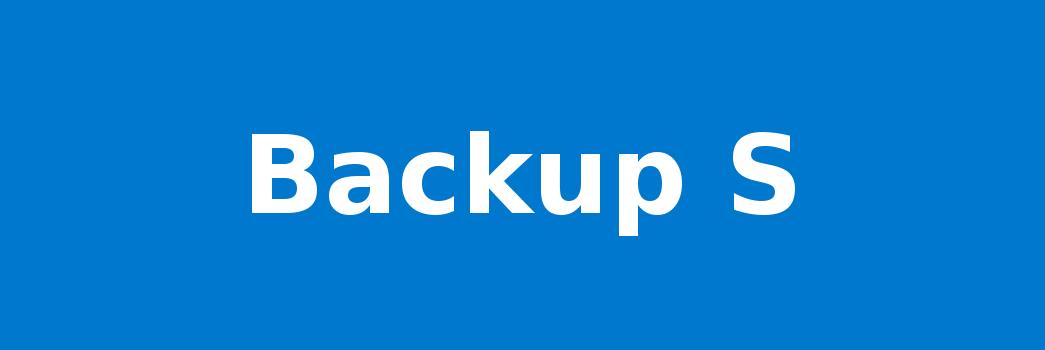 Backup S